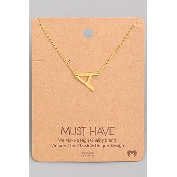 Initial Pendant Necklace {Gold - Silver}