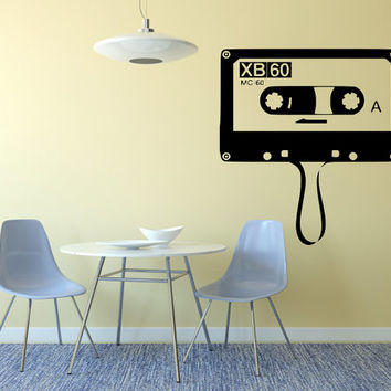80's 90's Kid Cassette Vintage Wall Decal Made To order Fast Production Shipping within 24 hours...Several Color Opt