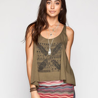 Billabong Find A Way Womens Tank Army  In Sizes