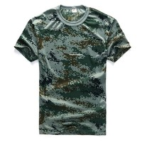 Camouflage net design breathable t-shirt
