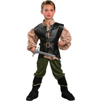 Limited Boys Deluxe Robin Hood Costume Kids Historical Renaissance Cosplay Clothing Halloween Carnival Party Fantasy Fancy Dress