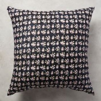 Kerry Cassill Starflower Euro Sham by Kerry Cassill in Black Euro Sham Size Bedding