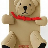 Beige Teddy Bear Silicone Phone Case Iphone Samsung Cover