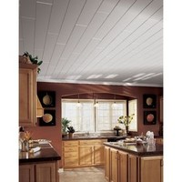 Shop Armstrong Woodhaven 10-Pack Painted White Surface-Mount Plank Ceiling Tiles (Common: 84-in x 5-in; Actual: 84-in x 5-in) at Lowe's