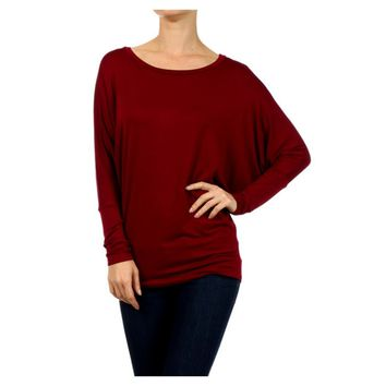 Dolman Sleeve tunic, Burgundy