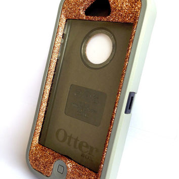 OtterBox Defender Series Case iPhone 5 Glitter Cute Sparkly Bling Defender Series Custom Case Grey / Sunstone