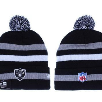 ESBON Oakland Raiders Beanies New Era NFL Football Cap