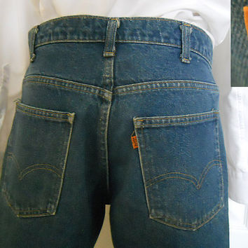 Vintage Levi 646 Jeans - 1970s Boot Cut - Zip Fly - Mid Rise Denim - Mens 32 / 30