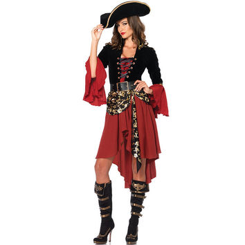 Pirate Costume Women Adult Halloween Carnival Costumes Fantasia Fancy Dress Caribbean Pirates Costume