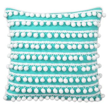 Poolside Pom Pom Pillow Covers