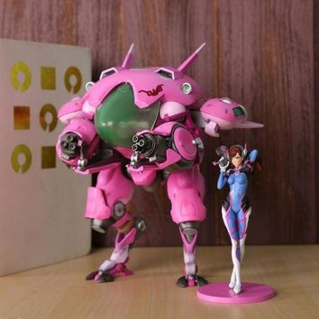 Overwatch Dva with MEKA Mech Statue and Figure Set