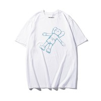 Hot Tunic 19SS KAWS HOLIDAY KOREA Women Man Fashion Print Sport Shirt Top Tee