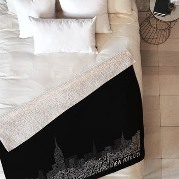 Restudio Designs New York Skyline 2 Fleece Throw Blanket
