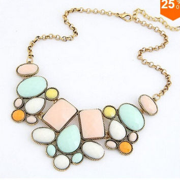 Satr Jewelry VinatgeJewelry Gem Choker Charm Statement Retro Necklaces & Pendants = 1669159492