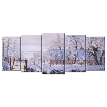Monet Oil Painting Stock Photo 03 - 5 panels XL
