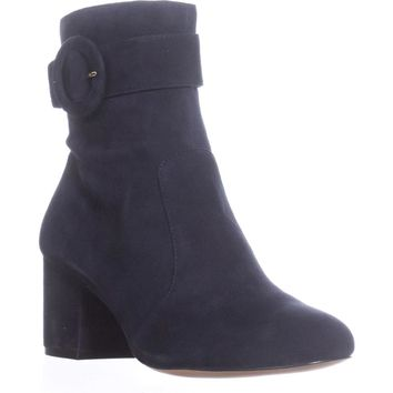 Nine West Quilby Buckle Ankle Boots, Navy, 9.5 US