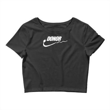 donor   mens funny Crop Top