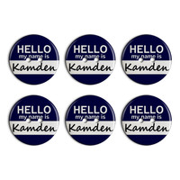 Kamden Hello My Name Is Plastic Resin Button Set of 6