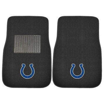 Indianapolis Colts NFL 2-pc Embroidered Car Mat Set