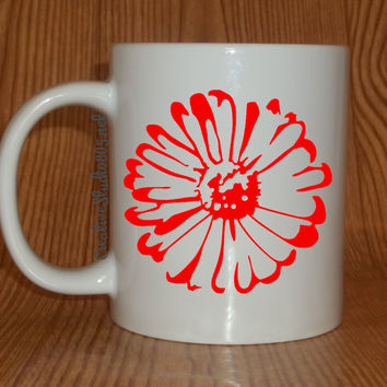 Gerbera Daisy | Coffee Mug | Cute Coffee Mug | Funny Coffee Mugs | Flowers | SUBLIMATION Mug