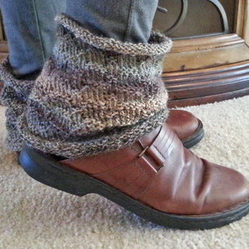 Knit Ankle Warmer Spats Boot Cuffs Rustic PDF Knitting Pattern DIY Cozy Fall Wardrobe