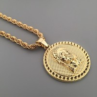 New Arrival Stylish Gift Shiny Jewelry Hip-hop Club Necklace [6544256579]