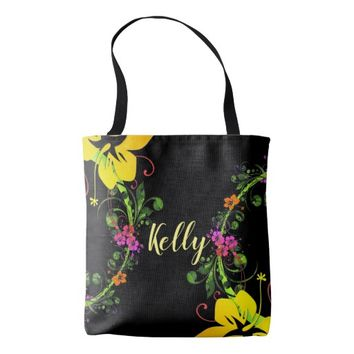 Tropical hibiscus tote. tote bag