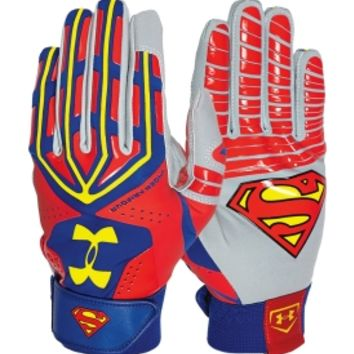 Under Armour Adult Superman Alter Ego Motive Batting Gloves | DICK'S Sporting Goods
