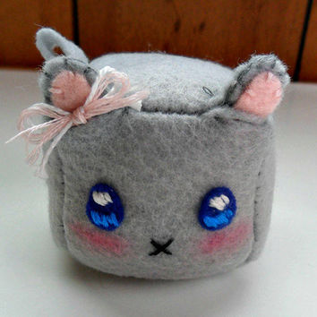 Adorable Cube Kawaii Mouse Plushie