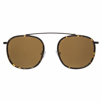 Illesteva Mykonos Ace 52mm Flame and Black Sunglasses / Gold Flat Lenses