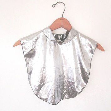 Vintage Blair SILVER METALLIC Shiny Dickie Bib DEADSTOCK One Size Fits All