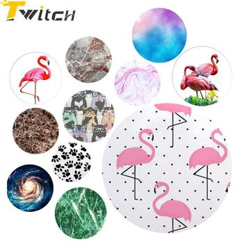 Twitch Marble Flamingo Phone holder Universal Finger Ring POP Smart Phone Stand For iphone 6s plus