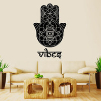 Wall Decal Vinyl Sticker Decals Art Decor Design Hamsa Hand Vibes Sign Indian Buddha Ganesh Lotos Modern Bedroom Dorm Office(r1018)