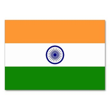 Patriotic table card with Flag of India