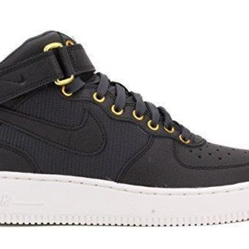 Nike Youth Air Force 1 Mid LV8 Sneaker Shoes-Black/Anthracite-SummitWhite air force o