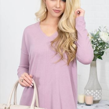 Butter Soft Sweater | Lilac Rose