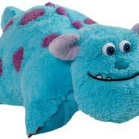 "Pillow Pets Authentic Disney 18"" Sulley, Folding Plush Pillow- Large"