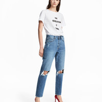 Vintage High Cropped Jeans - from H&M