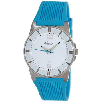 Kenneth Cole KC2789 Women's New York White Dial Blue Rubber Strap Watch
