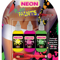 Neon Body Paints - 3 Pack