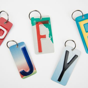 Letters A - Z Key Chain - SET OF 5 KEY CHAINS - License Plate Key Chain - You Choose the Letters - Bridal Party Gift - Groomsmen Gift - Wedding Favor - Bridesmaid gift - Stocking Stuffers - Gift Tags - Teacher gifts