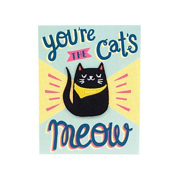 You're The Cat's Meow Card + Patch Combo