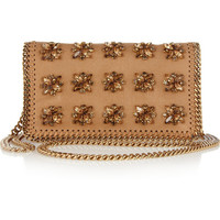 Stella McCartney | Crystal-embellished faux leather shoulder bag | NET-A-PORTER.COM