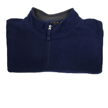 Club Room Men's Mock Quarter-Zip Sweater (Navy Blue, 3XB)