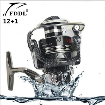 FDDL Brand Aluminum alloy Line cup 13 axis Fishing Reel Full Metal Fishing Reels Ball Bearings Type Reel roller sea rod fishing
