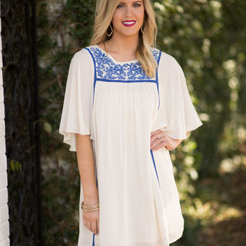 Take Me Away Embroidered Dress