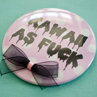 7.5cm, 2.9inch Kawaii Button with bows
