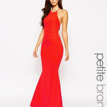 Lipstick Boutique Petite Halter Neck Maxi Dress