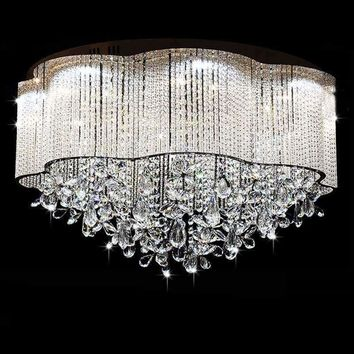 2016 New Crystal Ceiling Lights Lamp For Indoor Lighting abajur luminaria Decorative Bedroom Lighting Fixtures Free shipping