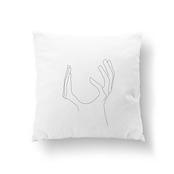 Feminine Face Pillow, Minimalist Woman Pillow, Home Decor, Black And White, Woman Art, Cushion Cover, Throw Pillow, Female Body, Bed Pillow